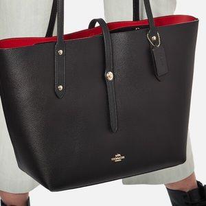 Coach Market Tote Bag Black/True Red